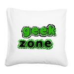 greengeekzone.png Square Canvas Pillow