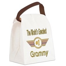 GREENgrammy.png Canvas Lunch Bag
