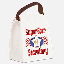 SUPERSTARsecretary.png Canvas Lunch Bag