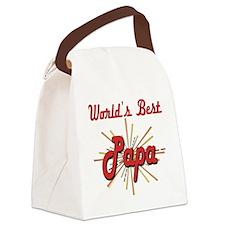 GeatestFireworksPapa.png Canvas Lunch Bag