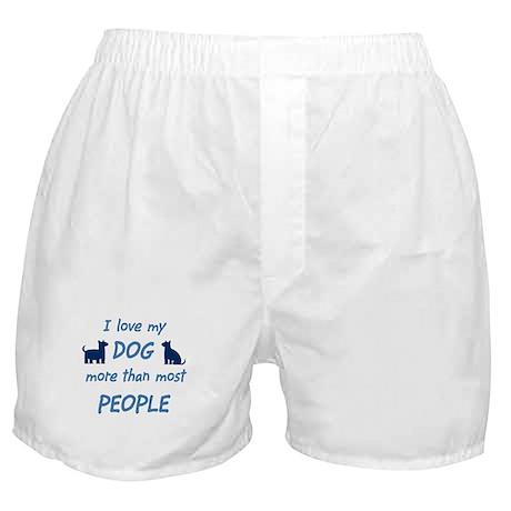 Love My Dog Boxer Shorts