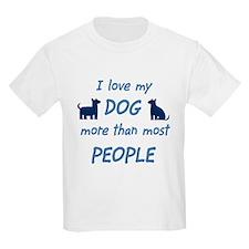 Love My Dog Kids T-Shirt