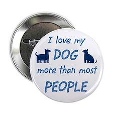 Love My Dog Button