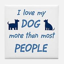 Love My Dog Tile Coaster