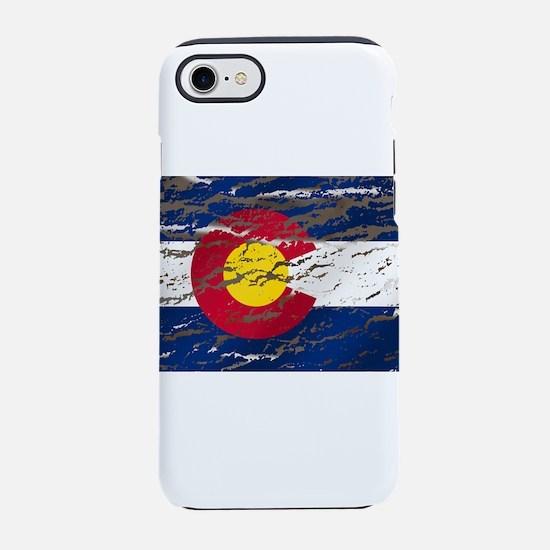 Colorado Vintage Flag iPhone 7 Tough Case