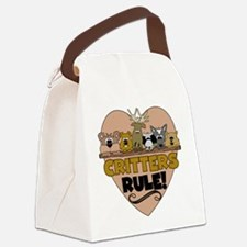 crittersrule.png Canvas Lunch Bag