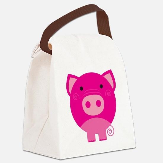NEPINKPIGG.png Canvas Lunch Bag