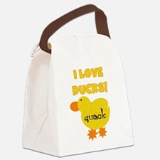 YELLOWLOVEDUCKS.png Canvas Lunch Bag