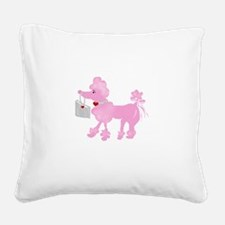 pinkpoodledarla.png Square Canvas Pillow