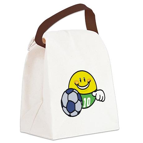 SMILEYSOCCER.png Canvas Lunch Bag