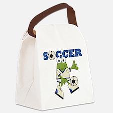 SOCCERFROGONE.png Canvas Lunch Bag