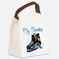 HOCKEYSHOESMINE.png Canvas Lunch Bag