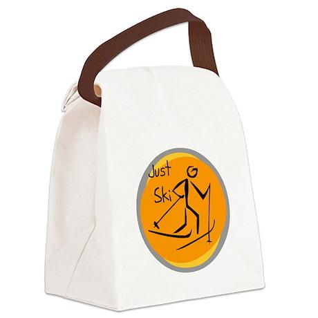 JUSTSKI.png Canvas Lunch Bag