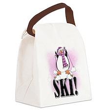 PENGUINSKI.png Canvas Lunch Bag