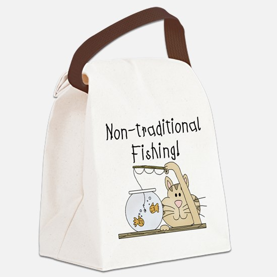 nontraditionalfishing.png Canvas Lunch Bag