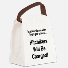 hitchikerswilbechargedtee.png Canvas Lunch Bag