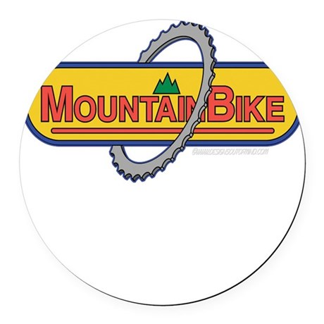 10x10_apparel mountainbike copy.png Round Car Magn