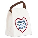 LOVEMELOVEEARTH.png Canvas Lunch Bag