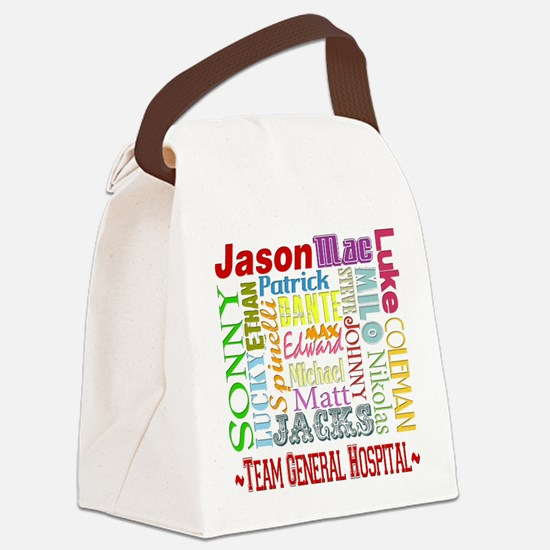 GH guy names copy.png Canvas Lunch Bag