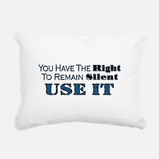 Remain Silent Rectangular Canvas Pillow