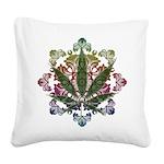 Weeds emblem copy.png Square Canvas Pillow