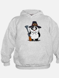 Thanksgiving Panda Pilgrim Hoodie