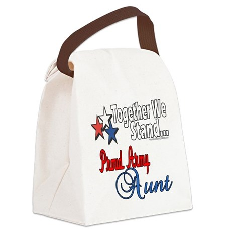 Proud Army Aunt Canvas Lunch Bag