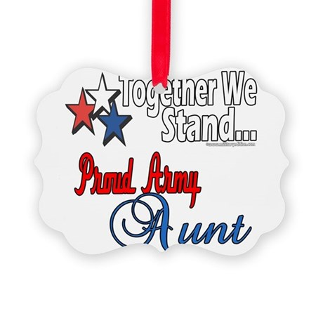 Proud Army Aunt Picture Ornament