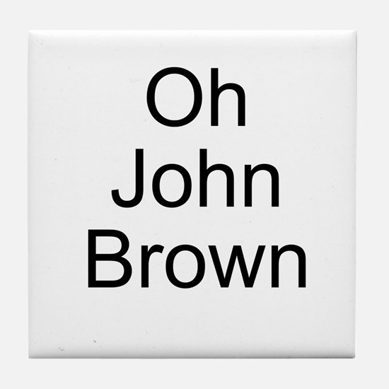 John Brown Tile Coaster