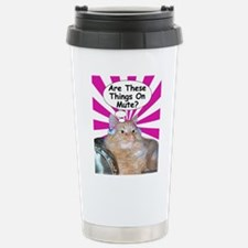 Hippy Kitty Are These Things On Mute? Travel Mug