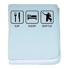 Eat Sleep Battle baby blanket