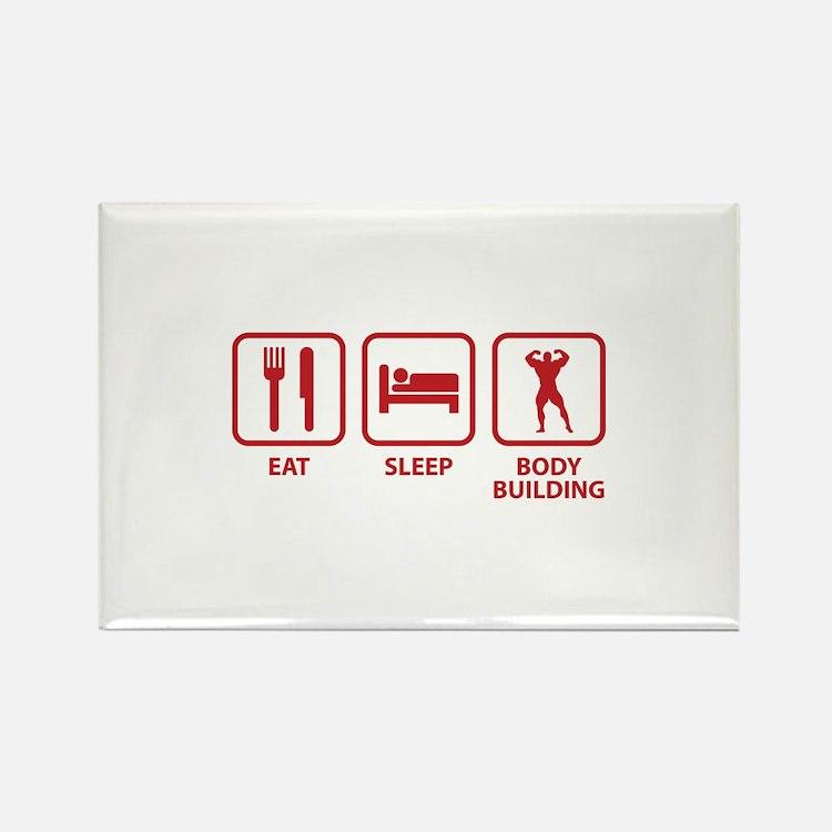 Eat Sleep Bodybuilding Rectangle Magnet