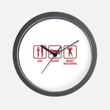 Eat Sleep Bodybuilding Wall Clock