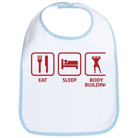 Eat Sleep Bodybuilding Bib