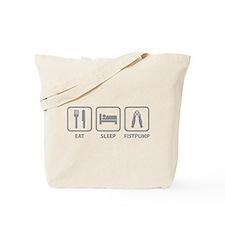 Eat Sleep Fistpump Tote Bag