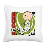 KIDSOCCERONE.png Square Canvas Pillow