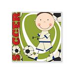 KIDSOCCERONE.png Square Sticker 3