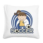 SPORTSGIRLTWO.png Square Canvas Pillow