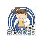 SPORTSGIRLTWO.png Square Sticker 3