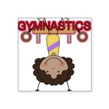 "GYMNASTICSTHREE.png Square Sticker 3"" x 3"""