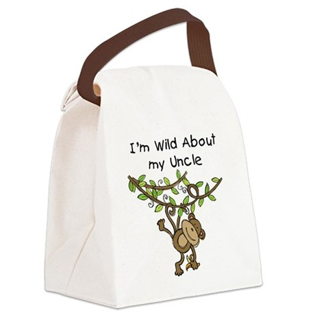 KPMDOODLESwilduncle.png Canvas Lunch Bag