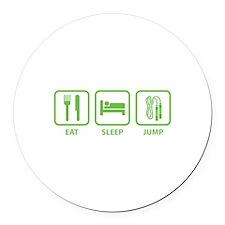 Eat Sleep Jump Round Car Magnet
