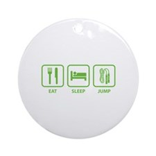 Eat Sleep Jump Ornament (Round)