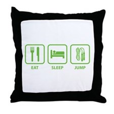 Eat Sleep Jump Throw Pillow