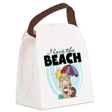 123GIRLLOVEBEACH.png Canvas Lunch Bag