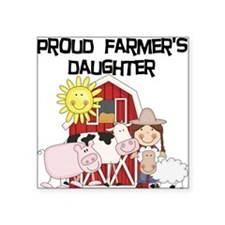 "farmerdaughter.png Square Sticker 3"" x 3"""