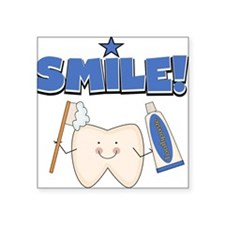 "TOOTHSMILEE.png Square Sticker 3"" x 3"""