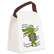 ALLIGATORACCORDION.png Canvas Lunch Bag