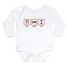 Eat Sleep Lift Long Sleeve Infant Bodysuit