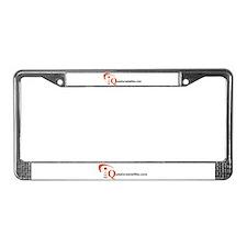 Cute Satellite License Plate Frame